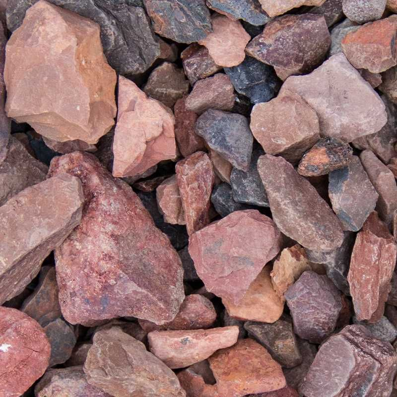 Rode mijnsteen split